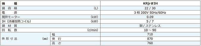 台式加热搅拌机KRjrα IH(IH)规格