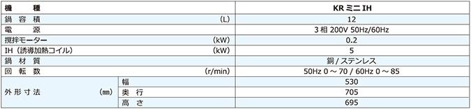 台式加热搅拌机KR mini IH(IH)规格
